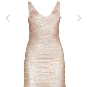 Herve Leger Sachie Foil Dress